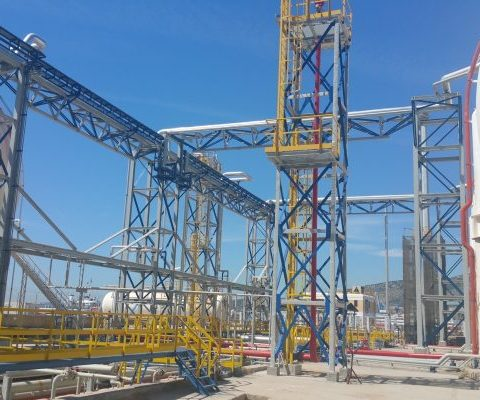 Application of Chartek 7 at the steel structure of LPG unit at Hellenic Petroleum Elefsis industrial complex