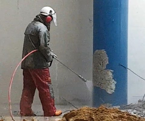 Removing Paint and Surface Preparation with Ultra High Pressure Water Blasting